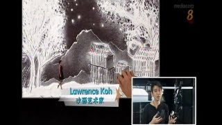 """Sand Artist Lawrence TV Interview - Mediacorp Channel 8 Documentary: """"Our SG50 Celebrations!"""""""