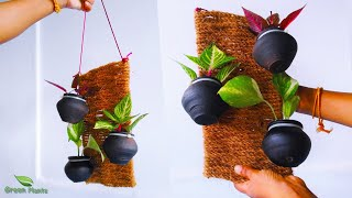Hanging Pots   Hanging Plant Pots   Vertical Garden Pots   Hanging Flower Pots//GREEN PLANTS