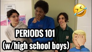ASKING HIGH SCHOOL GUYS ABOUT PERIODS *what boys really know*