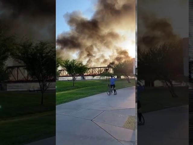 דיווח ראשוני: פיצוץ ברכבת נוסעים באריזונה ארה''ב • צפו בתיעוד
