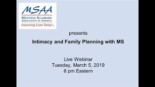 Webinar on MS and Intimacy!
