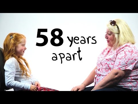 A Girl and a Woman 58 Years Apart Have a Conversation
