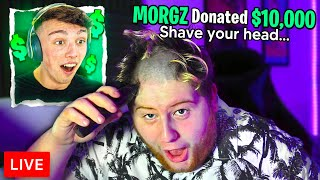 Donating $10,000 To Streamers, If They Shave Their Head...