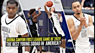 Sierra Canyon FIRST LEAGUE GAME Of 2021 Went CRAZY!