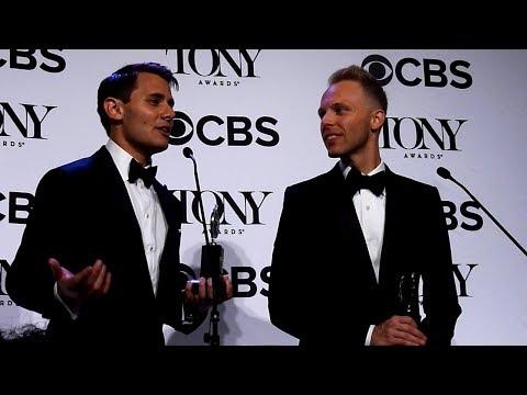 Benj Pasek & Justin Paul ('Dear Evan Hansen'): Tony Awards 2017 Backstage (Best Score)