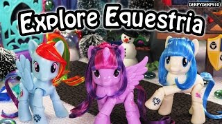 My Little Pony Explore Equestria Articulated Twilight Sparkle Rainbow Dash Coco MLP Toy Review