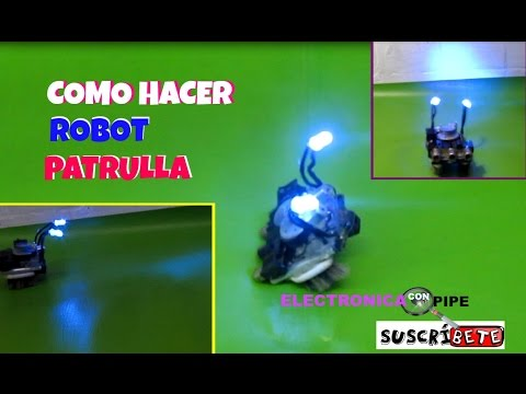 Como hacer un Robot con materiales reciclables electrónicos pasó a paso