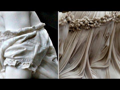 Одежда из мрамора как настоящая! Как древние это делали?