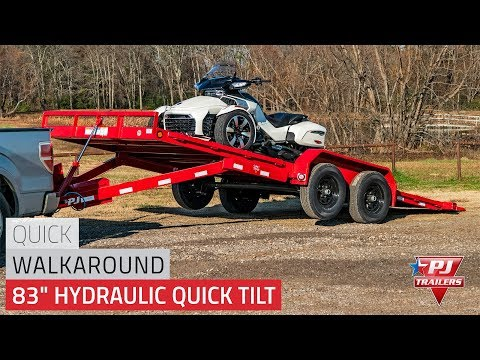 2021 PJ Trailers 83 in. Hydraulic Quick Tilt (TH) 22 ft. in Kansas City, Kansas - Video 1