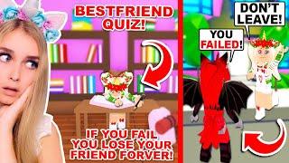 We Did A BEST FRIEND Quiz In Adopt Me! (Roblox)