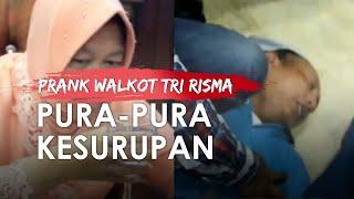 Viral Wartawan Kesurupan Depan Bu Risma, Walkot Surabaya Panik Sambil Baca Doa