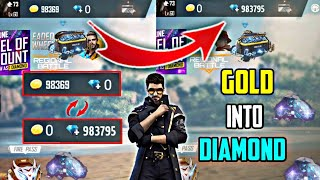 How To Make Gold Coins Into Diamond in Garena Free Fire | Exchange Gold to Diamond