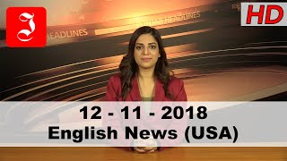 News English USA 12th Nov 2018