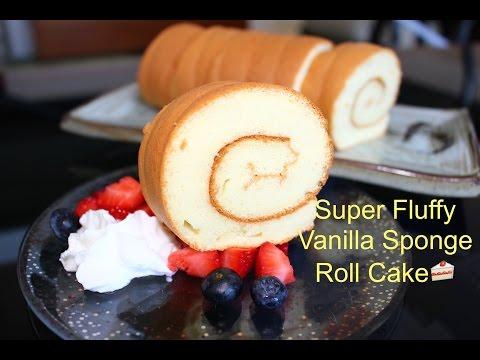 Video How to Make Super Soft Vanilla Sponge Roll Cake | 超軟蛋糕卷(燙麵法)
