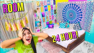 Transforming my ROOM in 24 Hours!*extreme makeover challenge*+ Room Tour 2020🌻