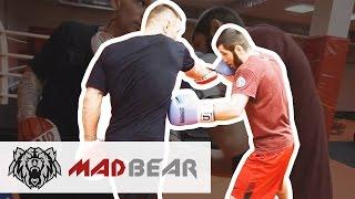 Удар левый по печени и защита от него - тренировка с Андреем Бупасом. ЧМ по рукопашному бою в Москве