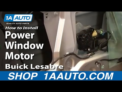 How To Install Repair Replace Power Window Motor Buick