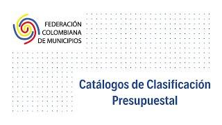 Catálogos clasificación presupuestal
