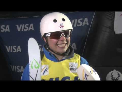 Ashley Caldwell Reacts to her Third Place Result - Visa Freestyle International at Deer Valley 2016