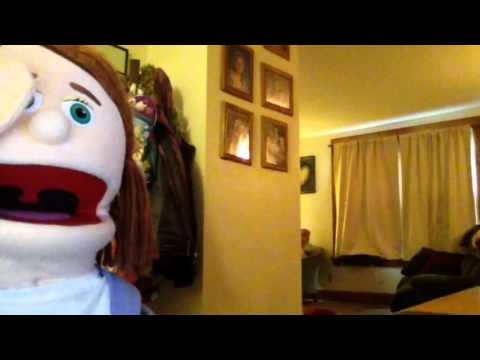 The funny jokes with Jessie cheerleader the puppet and mom