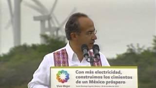 preview picture of video 'Inauguración de las Centrales Eólicas Oaxaca I, II y La Venta III'