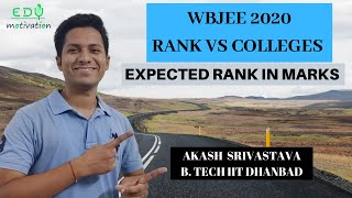 WBJEE RANK vs MARKS | RANKS FOR TOP COLLGE | All your queries !!