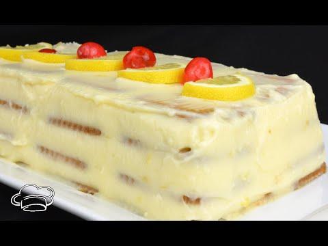 TARTA DE LIMÓN SIN HORNO Tarta de galletas con crema de limón LA TARTA DEL VERANO