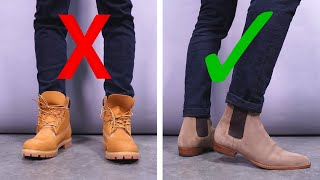 6 Ways Youre Wearing Your Boots WRONG | Chelsea, Combat, And Dress Boot Style Tips