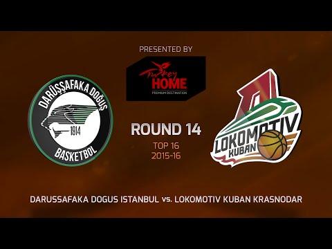 Highlights: Top 16, Round 14, Darussafaka Dogus Istanbul 87-86 Lokomotiv Kuban Krasnodar