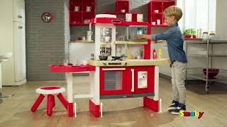 Virtuvėlė su tekančiu vandeniu, stalu, kėdute ir priedais 43 vnt. | Tefal Evolutive Gourmet | Smoby 312302