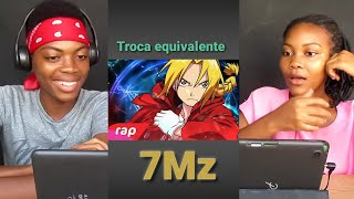 REACT Rap Do Edward Elric (Fullmetal Alchemist) - TROCA EQUIVALENTE   NERD HITS 7 Minutoz