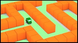 EGG MAZE! - Cartoon Cars Easter Egg Hunt - Puzzle Game! Childrens Animation. Kids Cartoons