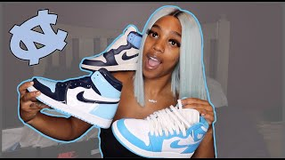 Female Jordan 1 UNC Sneaker Collection‼️‼️💙💙