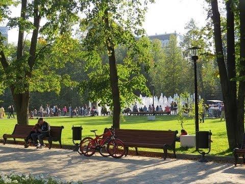 Парк Горького (Москва), Gorky Park (Moscow), прогулка в ЦПКиО им. Горького 3 сентября 2017