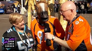 James Corden Sends His Parents to Super Bowl 50