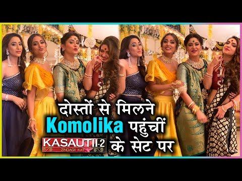 Hina Khan VISITS Kasautii Zindagii Kay 2 Set After