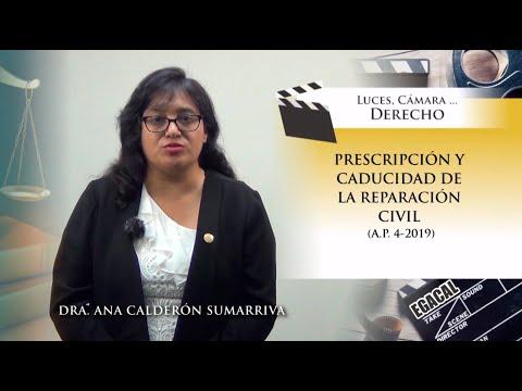 PRESCRIPCIÓN Y CADUCIDAD DE LA REPARACIÓN CIVIL (A.P. 4-2019) - Luces Cámara Derecho 152