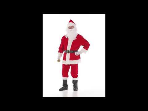 Disfraz de Papa Noel de adulto.