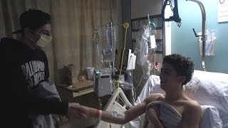Surprising a Fan in the Hospital #PrayforAbe | FaZe Rug