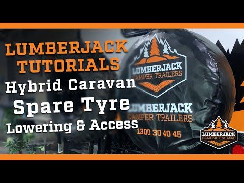Hybrid Caravan Spare Tyre Lowering & Access