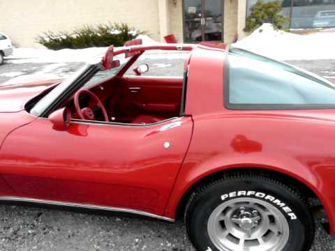 1979 Red Red Corvette 4spd Video