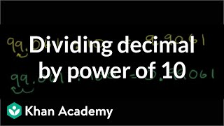 Dividing a Decimal by a Power of 10