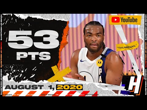 T.J. Warren EPIC 53 Points Full Highlights | 76ers vs Pacers | August 1, 2020