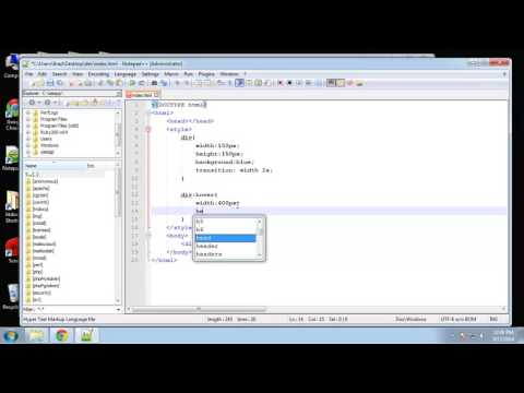 Learn HTML5 and CSS3 | Create Transition Dropdown Menu | Intro To CSS Transitions | Eduonix - Part 2