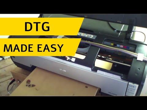 modification kit - convert epson A3 size printer flatbed DTG