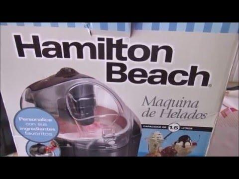 MAQUINA PARA HELADO HAMILTON BEACH/LAS RECETAS DE LUPITA