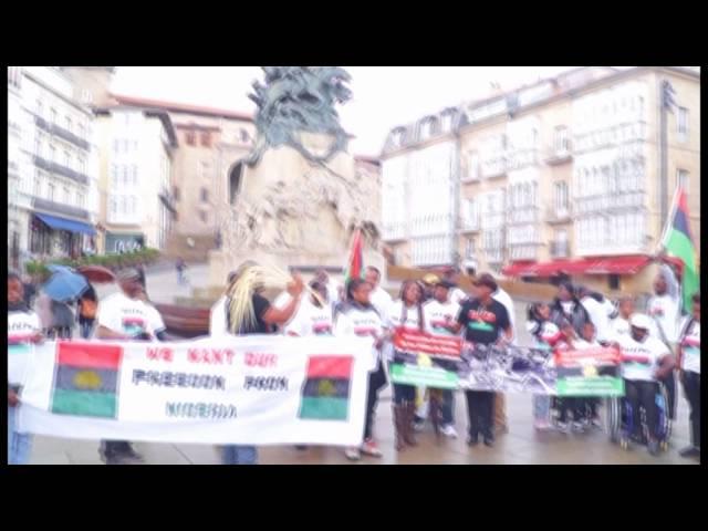 REMEMBERANCE OF BIAFRAN HEROS, 30 MAY 2014, AT VICTORIA, PAIS VASCO, SPAIN, EUROPE