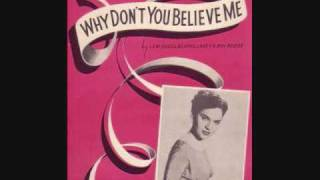1952SinglesNo1 Why dont you believe me by Joni James