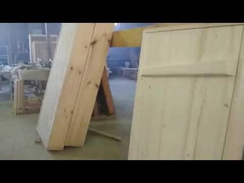 📐 ХОРОШАЯ Деревянная Дверь в Баню # Дверь на Клин от Лехи