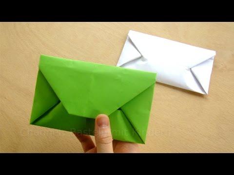Origami: Briefumschlag falten - Einfaches DIY Kuvert basteln mit Papier  DIN A4